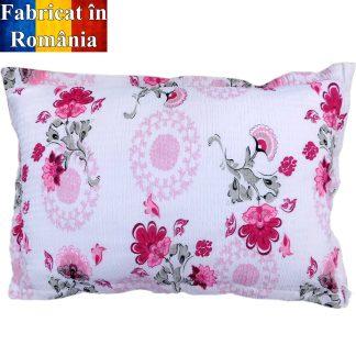 Fete de perne din bumbac creponat, flori roz 70 cm x 50 cm