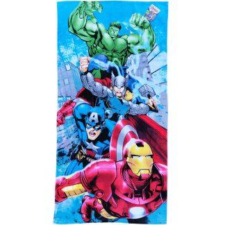 Prosoape de plaja pentru copii, Marvel Avengers, 100% bumbac