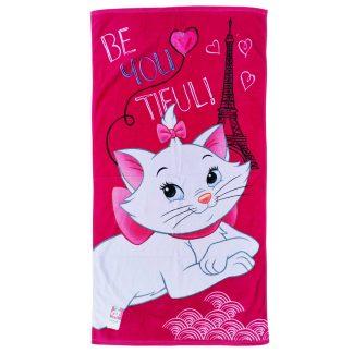 Prosop de baie pisicuta Marie, be you tiful, rosu roz, fucsia