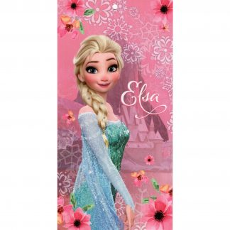 Prosop de plaja Frozen,Elsa din bumbac, 140cm X 70cm