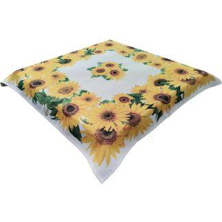Fata de masa Goblen 90 cm x 90 cm, floarea soarelui, Jacquard