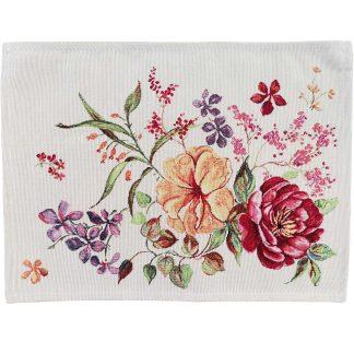 Fata de masa napron Goblen 35 cm x 45 cm, flori 2 Jacquard