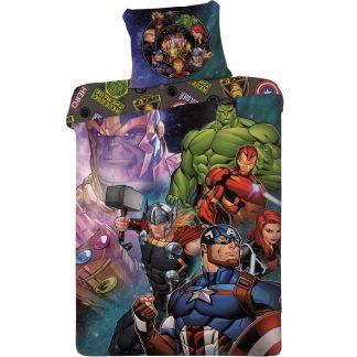 Lenjerie de pat Avengers Marvel, 2 fete, bumbac