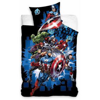 Lenjerie de pat Avengers Marvel4, 2 fete, bumbac