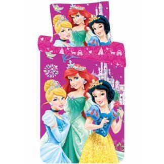Lenjerie de pat Printesele Disney, 2 fete, bumbac