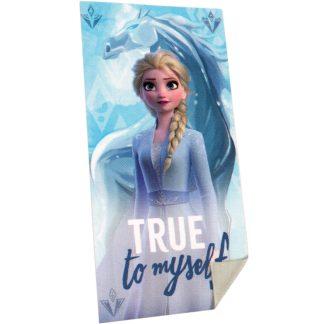 Prosoape de baie Frozen 2, 70cm X 140cm, Elsa, 100% bumbac, albastru