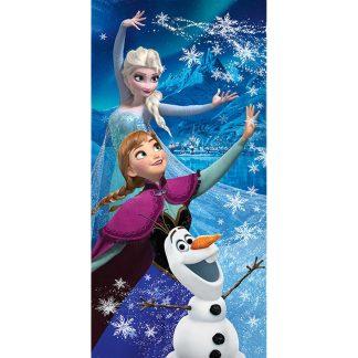 Prosoape de baie Frozen 2, 70cm X 140cm, Elsa Ana si Olaf, bumba