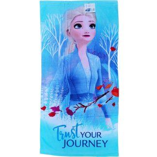 Prosoape de plaja Frozen, din bumbac, 140cm X 70cm, Trust Your Journey