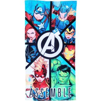 Prosop de plajă pentru copii, Marvel Avengers Assemble, bumbac